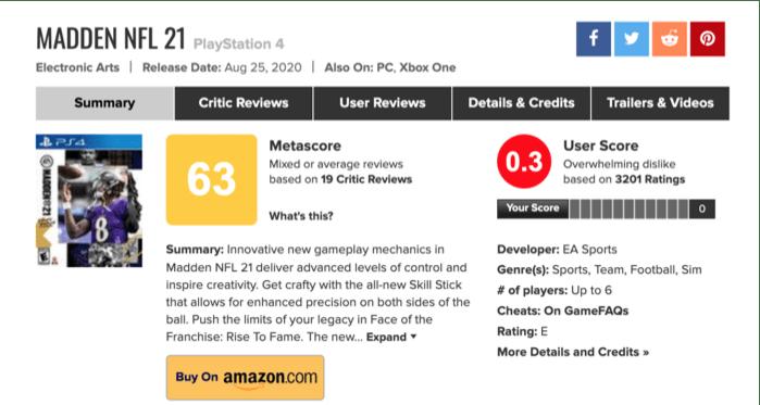 Madden NFL 21 - el máximo fracaso de EA Sports!