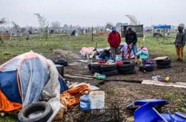 Toma de tierras en Guernica: se pospone por una semana el desalojo de 2.500 familias