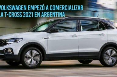 Volkswagen empezó a comercializar la T-Cross 2021 en Argentina