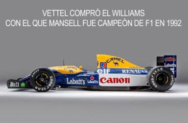 Vettel compró el Williams con el que Mansell fue campeón de F1 en 1992