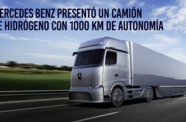 Mercedes Benz presentó un camión de hidrógeno con 1000 km de autonomía