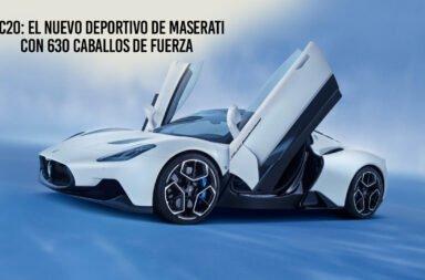 MC20: El nuevo deportivo de Maserati con 630 caballos de fuerza