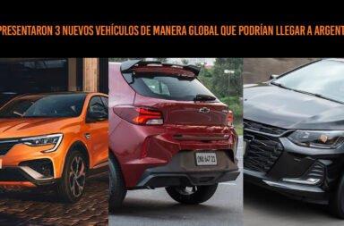 Se presentaron 3 nuevos vehículos de manera global que podrían llegar a Argentina