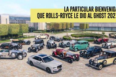 La particular bienvenida que Rolls-Royce le dio al Ghost 2021