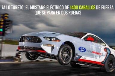 ¡A lo Toreto! El Mustang eléctrico de 1400 caballos de fuerza que se para en dos ruedas