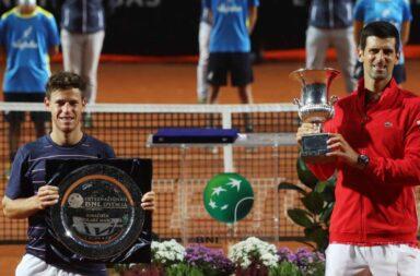 Masters 1000 de Roma: Djokovic se coronó ante un enorme Schwartzman
