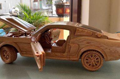 La increíble réplica de un Shelby GT500 de 1967 en madera