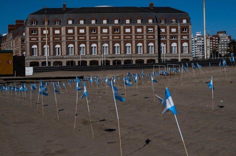 Mar del Plata: homenaje a los 504 fallecidos por covid en el país