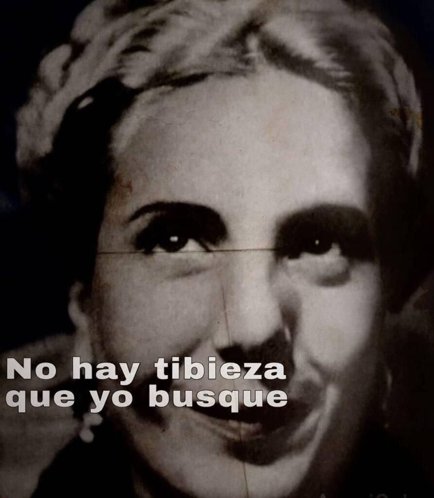 Florencia Kirchner celebró el día de la Lealtad con una imagen de Evita