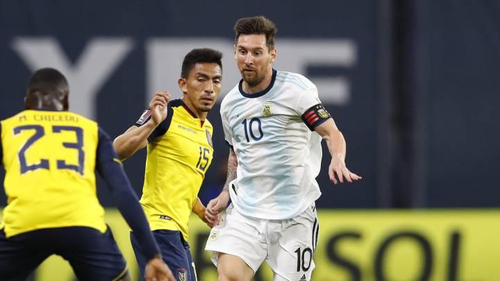 Argentina ganó 1 a 0 con gol de Messi