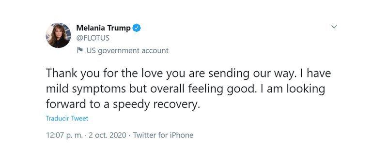 """Donald Trump tiene síntomas """"leves"""" de coronavirus tras confirmarse su contagio"""