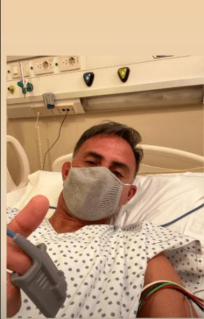 Diego Latorre tuvo que ser internado por un cuadro de neumonía leve