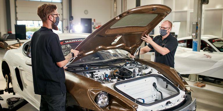 Porsche apuesta por un nuevo material para reemplazar la fibra de carbono