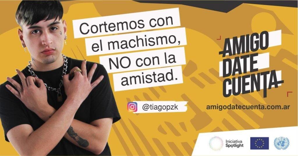 Tiago Pzk se suma a la campaña de #AmigoDateCuenta la nueva campaña de Naciones Unidas