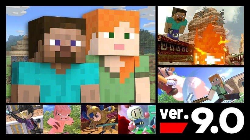 Super Smash Bros. Ultimate recibe a Minecraft
