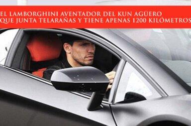 El Lamborghini Aventador del Kun Agüero que junta telarañas y tiene apenas 1200 kilómetros