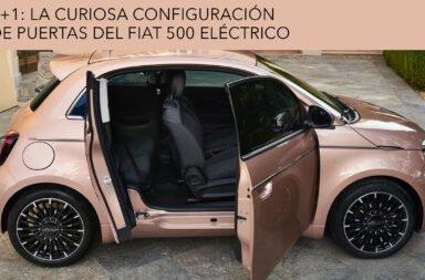 3+1: La curiosa configuración de puertas del Fiat 500 eléctrico