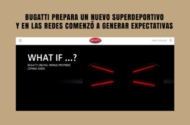 Bugatti prepara un nuevo superdeportivo y en las redes comenzó a generar expectativas