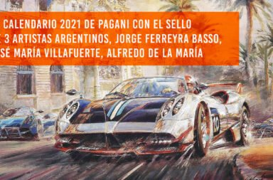 Arte en pista: El calendario 2021 de Pagani con el sello de 3 artistas argentinos