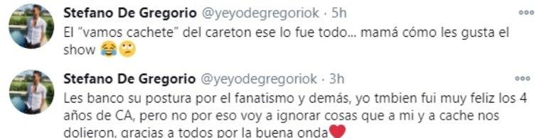 Yeyo de Gregorio explotó contra Nico Vázquez y Gime Accardi le contestó: