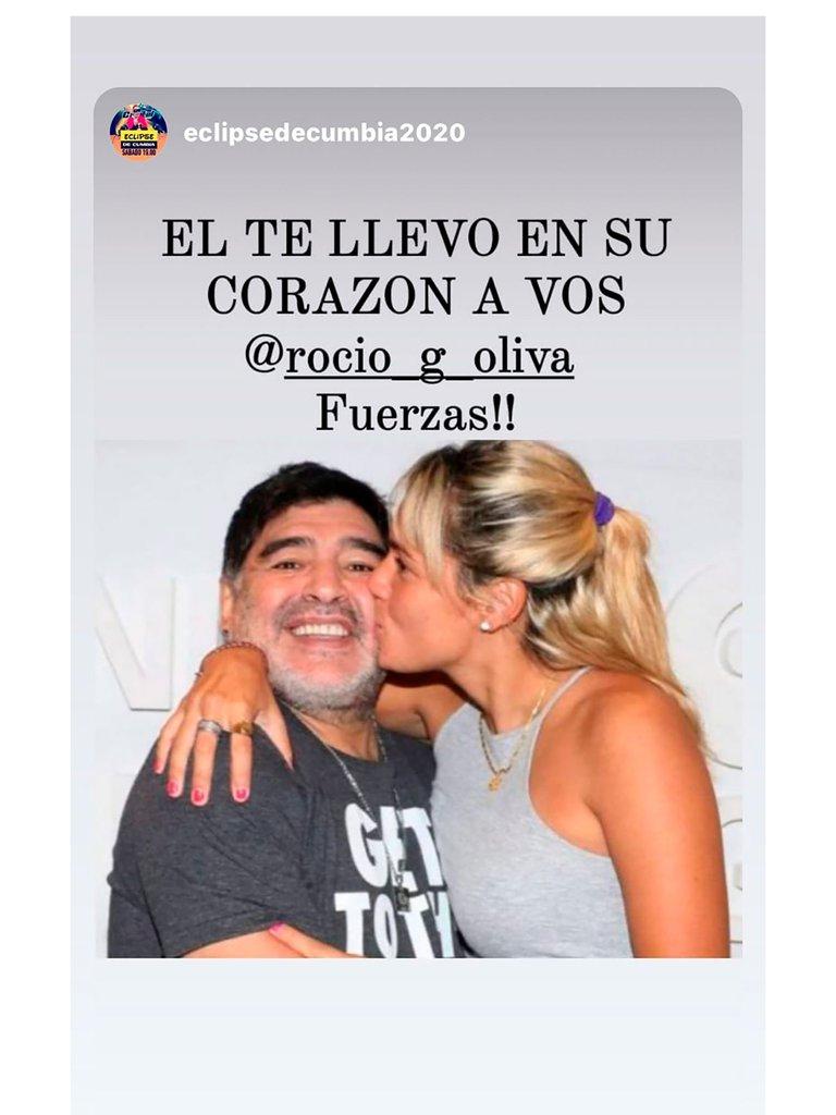 Por qué Rocío Oliva no pudo entrar a despedirse de Diego Maradona: los posteos que realizó mientras lo enterraban