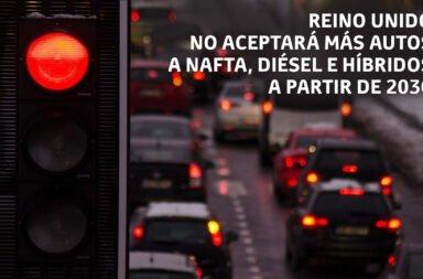 Reino Unido no aceptará más autos a nafta, diésel e híbridos a partir de 2030