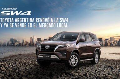 Toyota Argentina renovó a la SW4 y ya se vende en el mercado local
