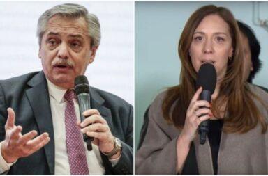 Alberto Fernández y María Eugenia Vidal