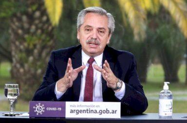 Alberto Fernández espera la vacuna