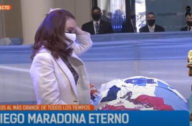 El adiós de Cristina Fernández de Kirchner a Diego Maradona