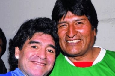 Evo Morales despidió a Maradona: