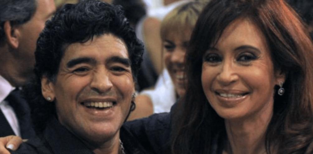 El adiós de Cristina Kirchner a Maradona