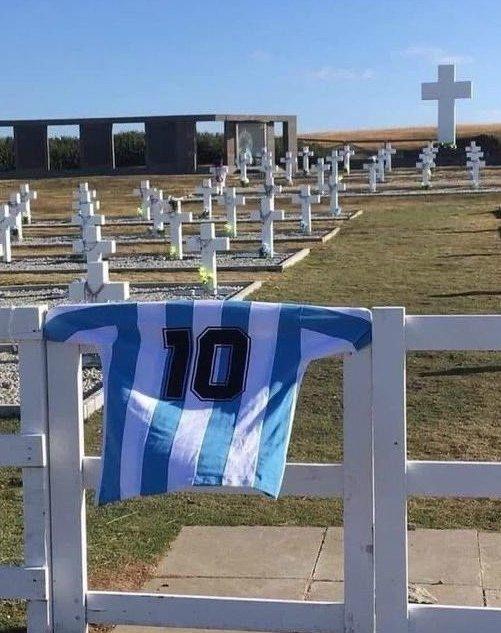 El homenaje a Diego Maradona en las Islas Malvinas