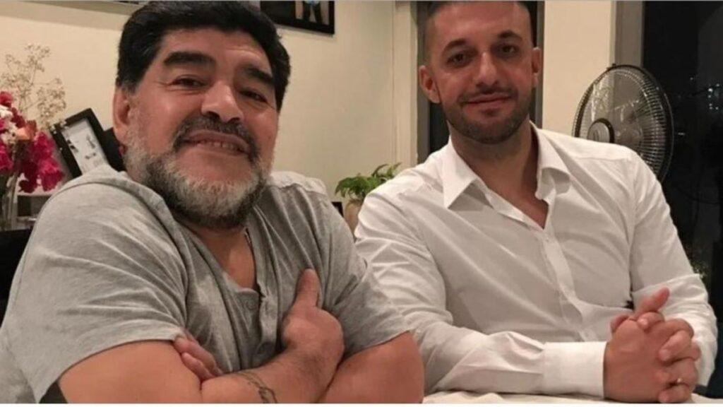 Diego Maradona y Matías Morla