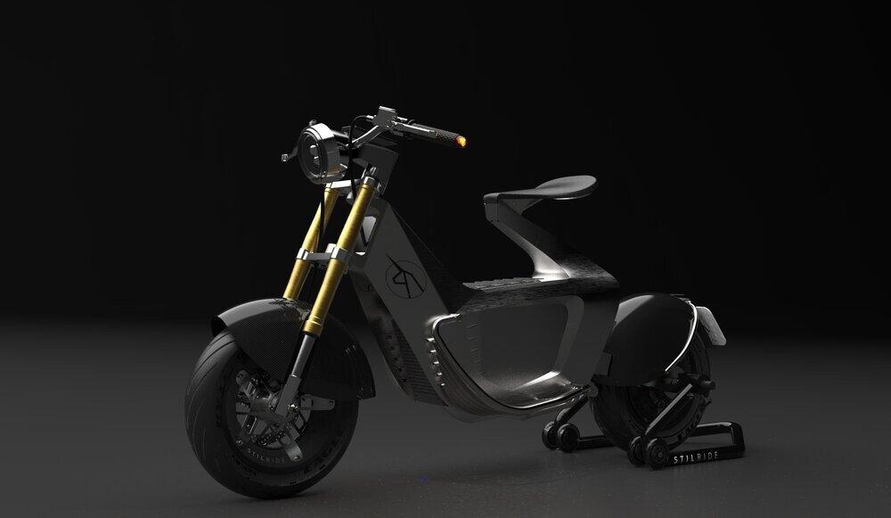 La moto que nació usando la técnica del origami
