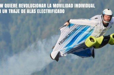 BMW quiere revolucionar la movilidad individual con un traje de alas electrificado