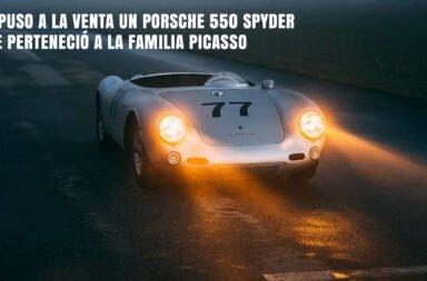 Se puso a la venta un Porsche 550 Spyder que perteneció a la familia Picasso