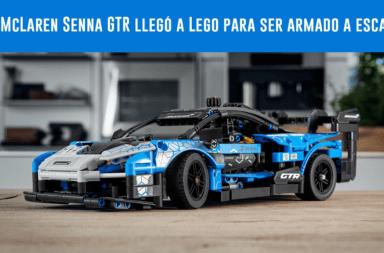 El McLaren Senna GTR llegó a Lego para ser armado a escala