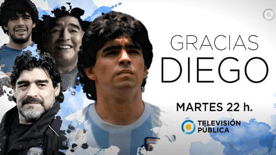 """""""Gracias Diego"""" Un recorrido de Fiorito a Dubai, de la gloria a la leyenda por la TV Pública"""