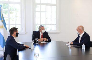Debido al aumento de casos de coronavirus, Alberto Fernández se reunió con Kicillof y Rodríguez Larreta