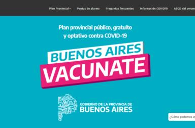 Buenos Aires Vacunate, el sitio web de la Provincia para vacunarse gratuitamente contra el coronavirus