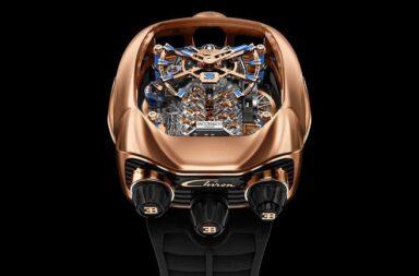 La increíble colección de relojes Bugatti que llevan en su interior un mini motor W16 de la firma