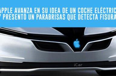 Apple avanza en su idea de un coche eléctrico y presentó un parabrisas que detecta fisuras