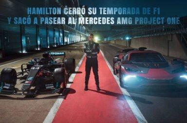 Hamilton cerró su temporada de F1 y sacó a pasear al Mercedes AMG Project One