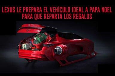 Lexus le prepara el vehículo ideal a Papa Noel para que reparta los regalos