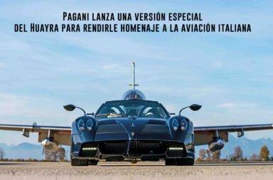 Pagani lanza una versión especial del Huayra para rendirle homenaje a la aviación italiana