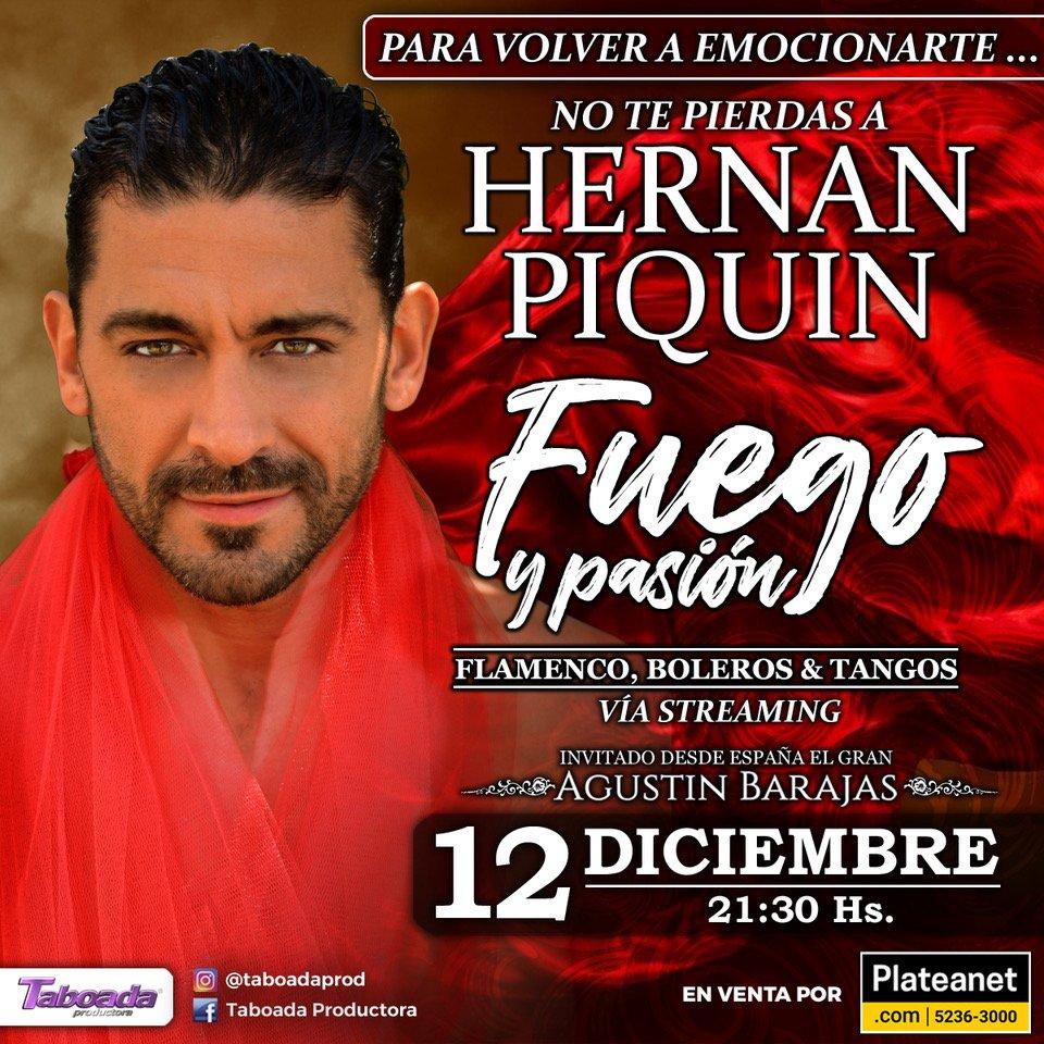Hernán Piquín presenta su show por streaming