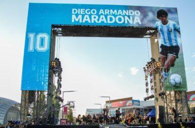 Homenaje musical a Maradona en Tecnópolis