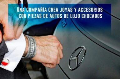 Una compañía crea joyas y accesorios con piezas de autos de lujo chocados