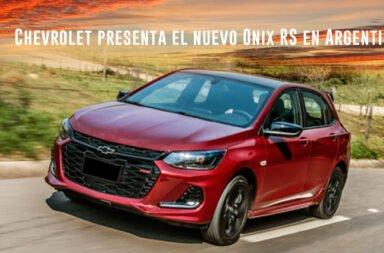 Chevrolet Argentina develó la versión deportiva del Onix que llegará al mercado local
